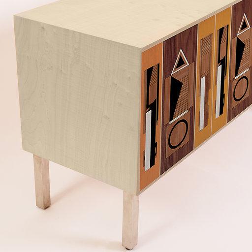 Intarsia Sideboard by Aldo Rossi Laura Meroni - Arteme