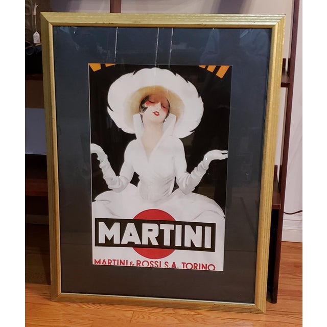 43 X 33...Very Large Framed Martini & Rossi Poster | Chairi