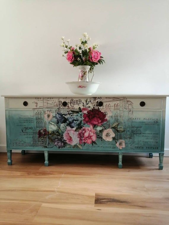Handpainted large sideboard (With images) | D