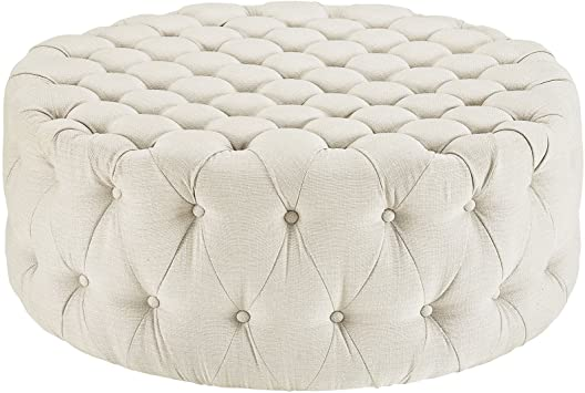 Amazon.com: Modway Amour Fabric Upholstered Button-Tufted Round .