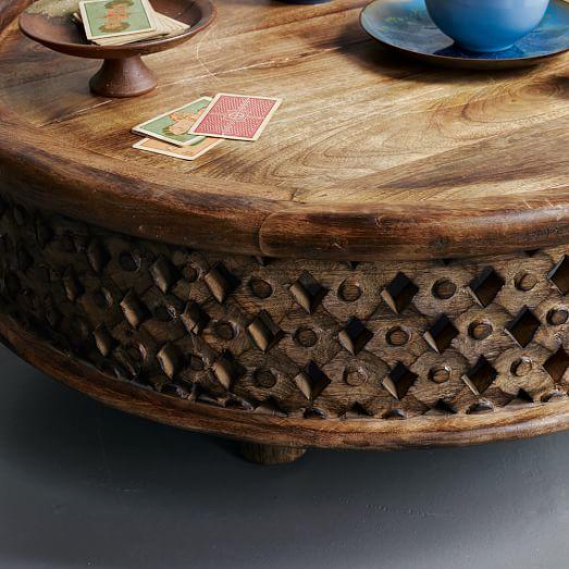 Carved Wood Coffee Tab