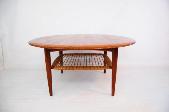 Danish Modern Teak Round Coffee Table by Johannes Andersen for CFC .