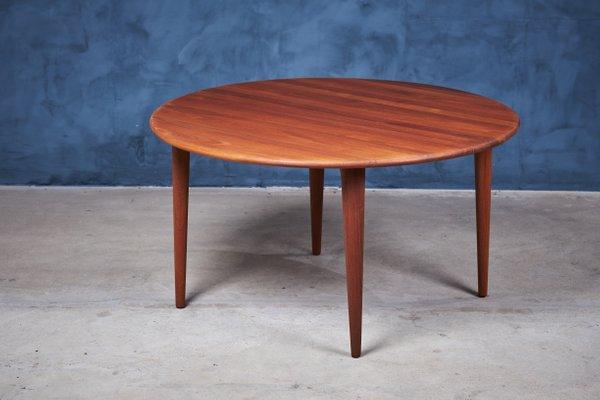 Round Mid-Century Danish Teak Coffee Table from A. Mikael Laursen .