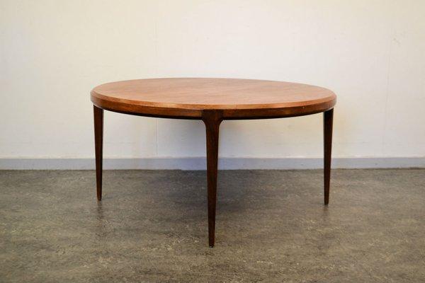 Round Teak Coffee Table by Johannes Andersen for Silkeborg .