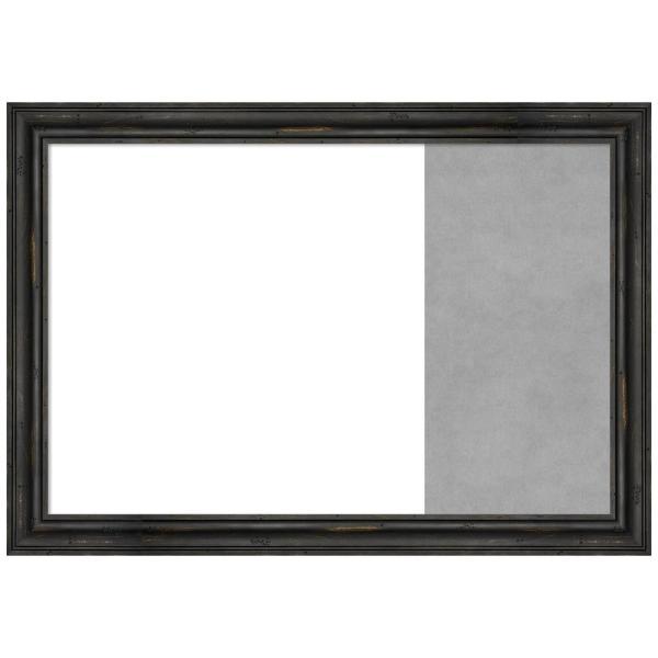 Amanti Art Rustic Pine Black Wood 30.38 in. x 21.38 in. Framed Dry .