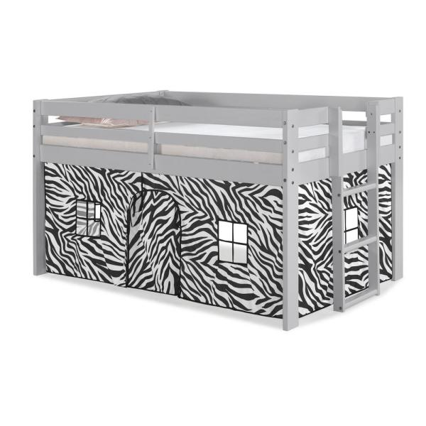 Alaterre Furniture Jasper Twin Junior Loft Bed, Dove Gray Frame .