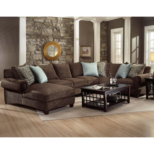 Robert Michael Rocky Mountain Chaise and Sofa Sectional .
