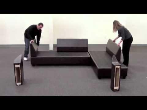 Sacramento Sectional Sofa Reversible Assembly - YouTu