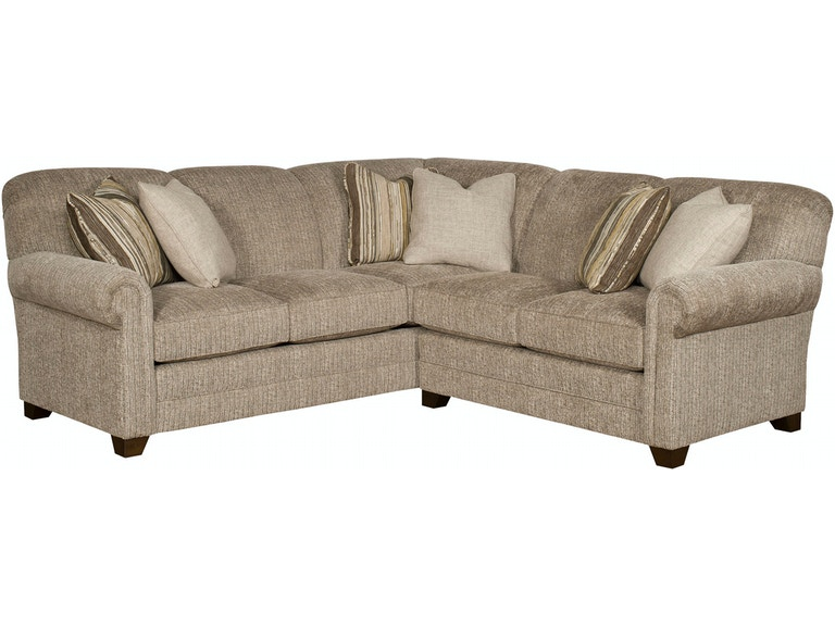 King Hickory Living Room Annika Sectional 3800-62-73 - Ivy .
