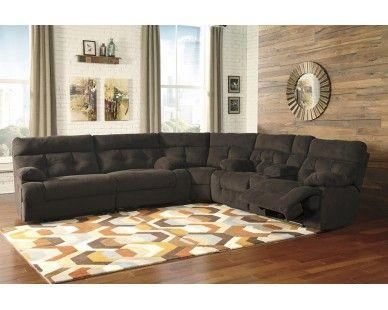 3 Piece Recliner Sectional - Chocolate - Sam Levitz Furniture .