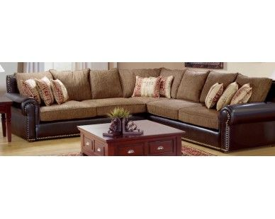 Rustic 3Pc Sectional - Faux Leather - Sam Levitz Furniture .