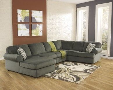 3 Piece Contemporary Sectional in Pewter - Sam Levitz Furniture .
