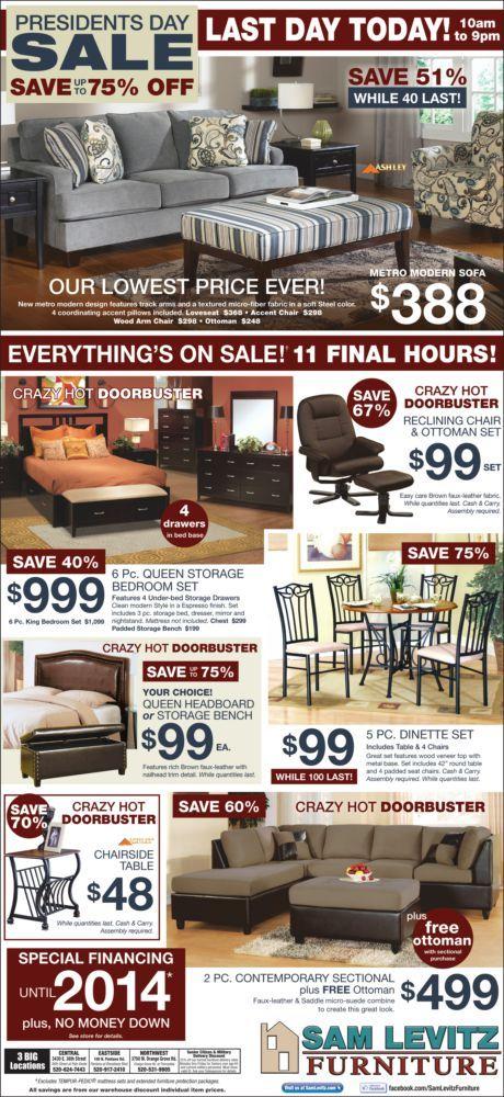 Sam Levitz 2/27/12 | Furniture ads, Ottoman set, Local a
