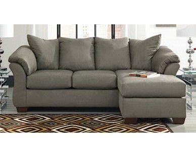 Contemporary Plush Chaise Sofa - Grey - Sam Levitz Furniture .