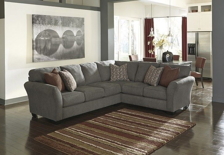 Contemporary 2 Piece Sectional - Steel - Sam Levitz Furniture .