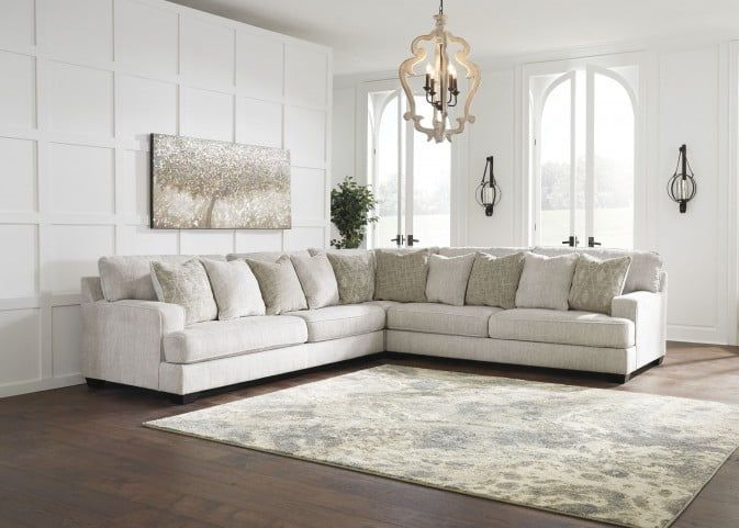 Rawcliffe Parchment Large LAF Sectional in 2020 | Furniture, 3 .