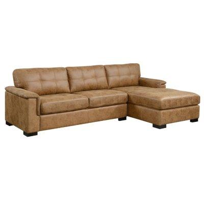 Abbott Sofa Sectional, Saddle Brown - Sam's Cl