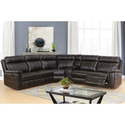 Samuel 6-Piece Sectional Sofa, Dark Brown - Sam's Cl