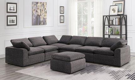 Rent Joel Reversible Sectional Sofa Gray | Sectional Sofas | San .