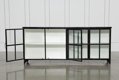 Satin Black & Painted White Sideboard | Living Spac