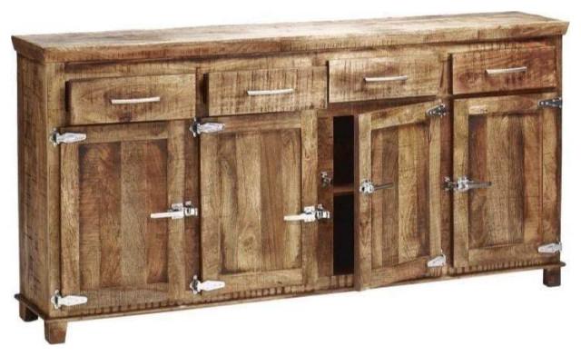 "Reclaimed 4 Drawer 4 Door ""Icebox"" Sideboard 40x80x16 - Rustic ."