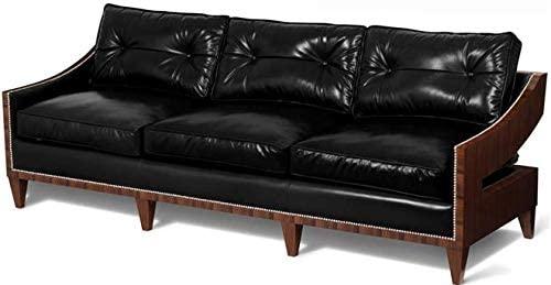 Amazon.com: Scarborough House 3Seater Black Leather Sofa Rosewood .