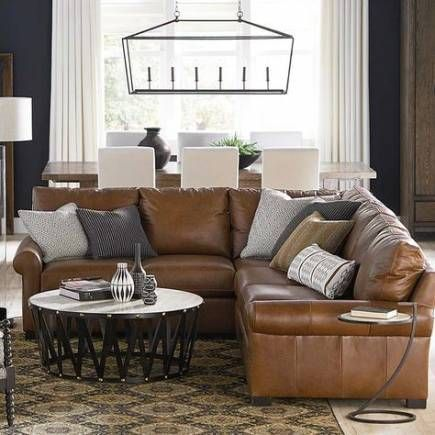 51 ideas farmhouse living room brown couch sectional sofas in 2020 .