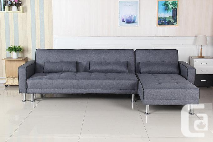 BRAND NEW SECTIONAL SOFA BED WITH MULTI-POSITIONS-FREE DELIVERY .