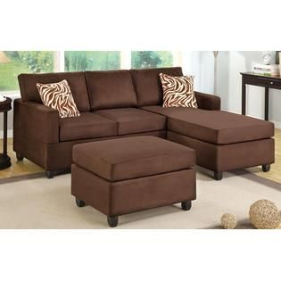 Hollywood Decor -Chocolate Brown sectional couch with Free .