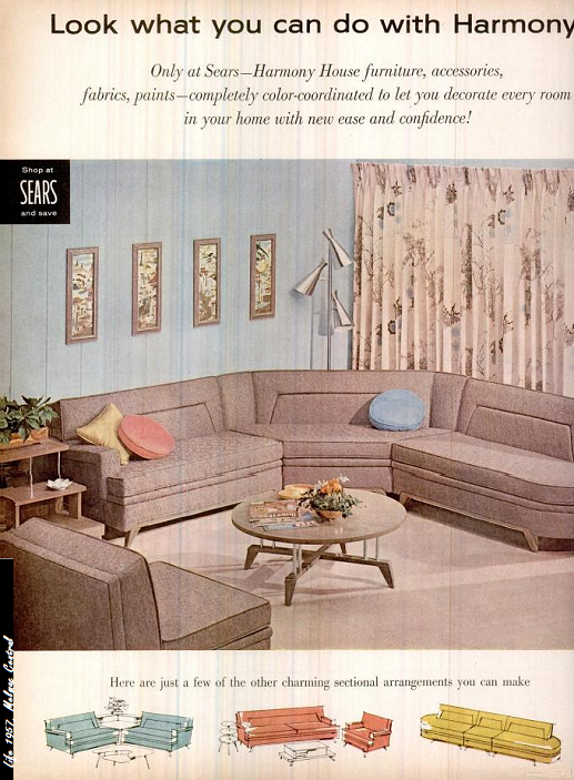 Harmony House : Sears Melmac | Harmony house, Retro living rooms .