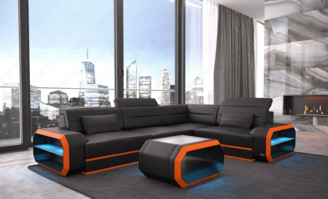 Small Leather Sectional Sofa Seattle LED in 2020   Sectional sofa .