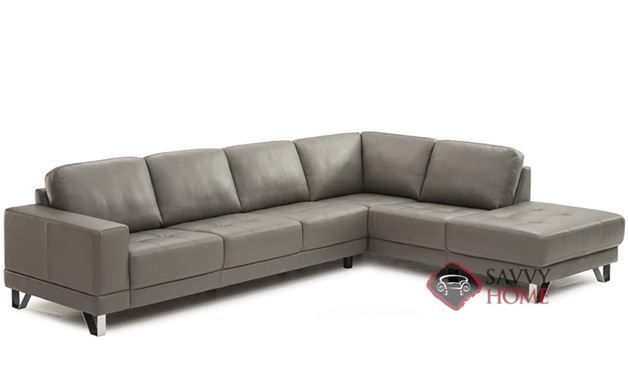 Seattle Top-Grain Leather Chaise Sectional Sofa by Palliser .