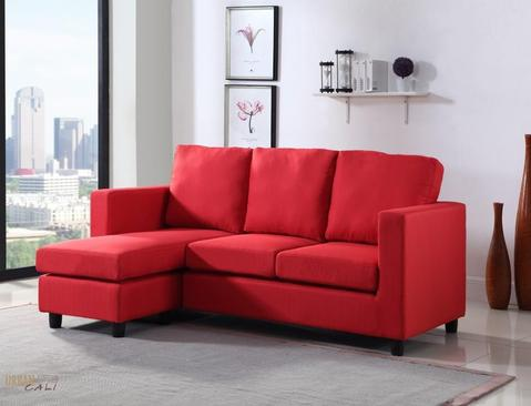 Newport Linen Small Condo Apartment Sized Sectional Sofa with .