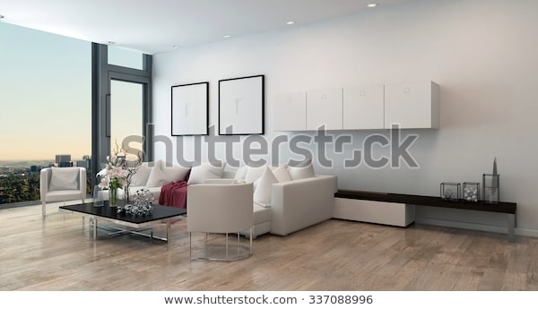 Architectural Interior Open Concept Apartment High Stock .