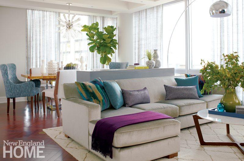 Tour a Colorful Family-Friendly Condo - New England Home Magazi