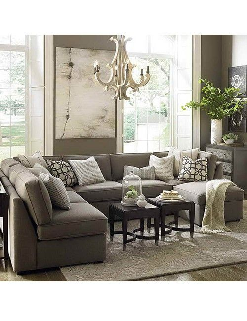 Large sectional sofa in small living room | Luxury furniture .