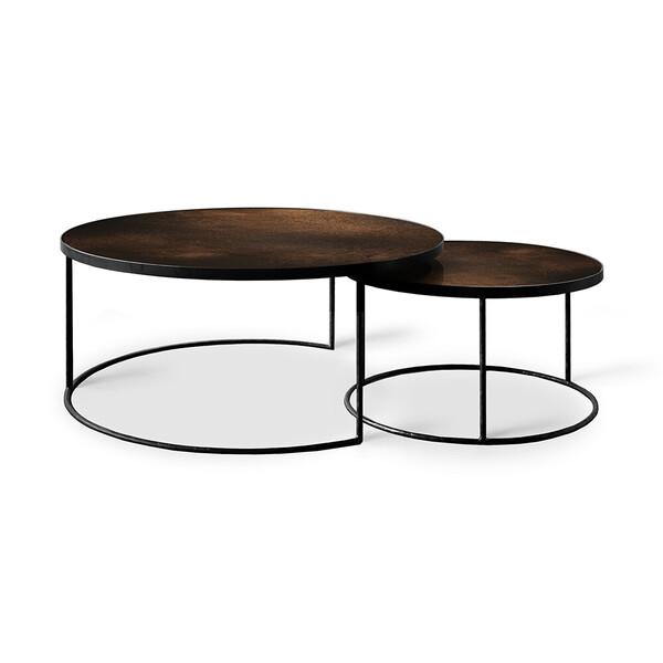 Bronze Copper Nesting coffee table set | Bron