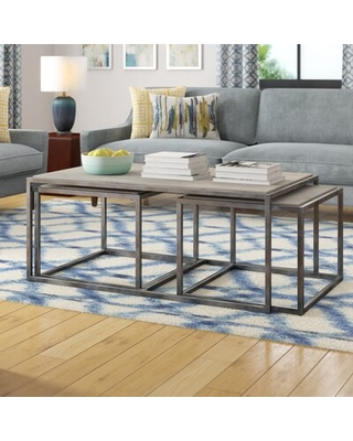 Sales for Antonio 3 Piece Nested Coffee Table S