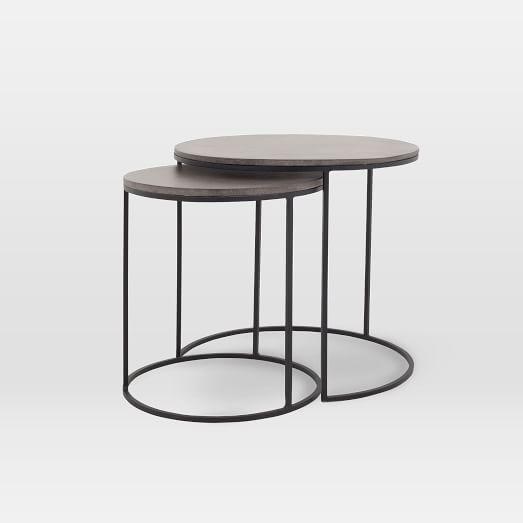 Lavastone Round Nesting Side Tables (Set of