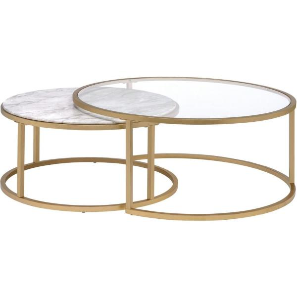 Venetian Worldwide Shanish 2-Piece Pack Faux Marble and Gold .