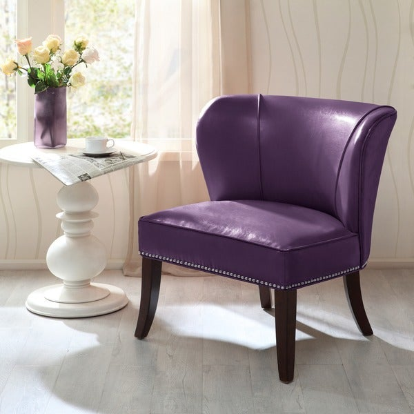 Shop Madison Park Sheldon Purple Armless Accent Chair - Ships To .