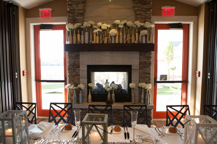 Fireplace Decor at the Reeds at Shelter Hav