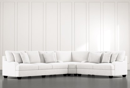 Sierra Foam III White 3 Piece Sectional | Living Spac