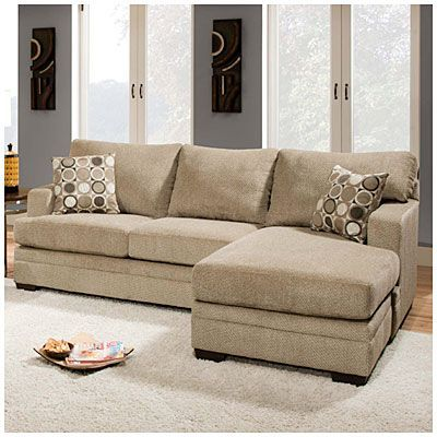 Simmons® Columbia Stone Sofa With Reversible Chaise at Big Lots .
