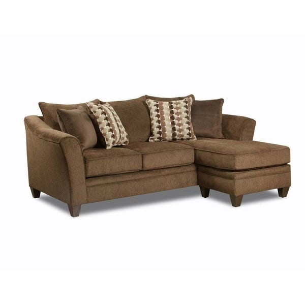 Shop Simmons Upholstery Albany Chestnut Sofa Chaise - Overstock .