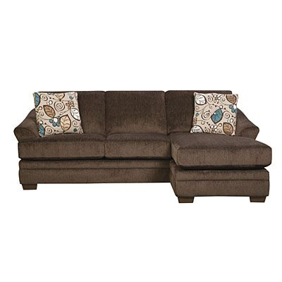 Simmons® Sunflower Brown Sofa with Reversible Chaise at Big Lots .