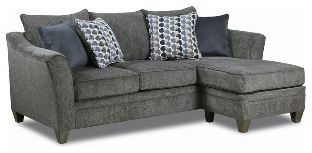 Lane Home Furnishings Albany Sofa Chaise - Transitional .
