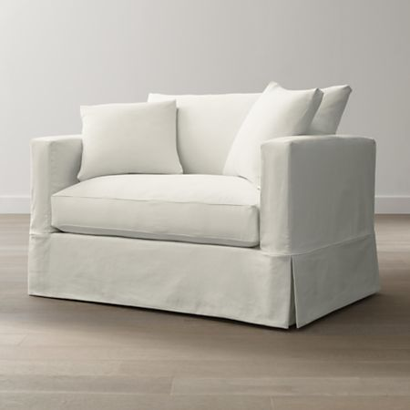 Willow White Single Sofa Bed with Air Mattress + Reviews | Crate .