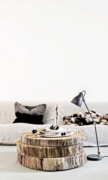 tree slice coffee table | Feathering the Nest | Tree trunk coffee .