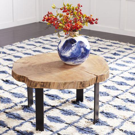 Sliced Trunk Coffee Table | Living room design diy, Contemporary .